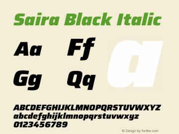 Saira Black Italic Version 1.100图片样张
