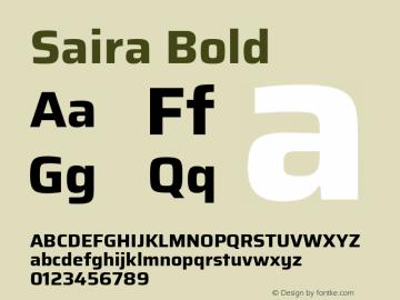 Saira Bold Version 1.100; ttfautohint (v1.8.3)图片样张