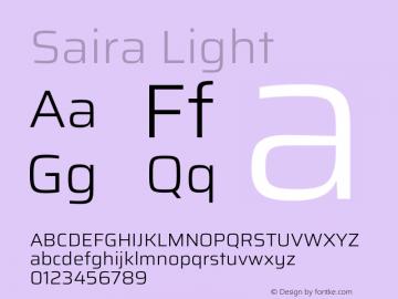Saira Light Version 1.100图片样张