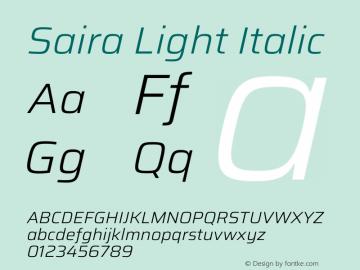 Saira Light Italic Version 1.100图片样张