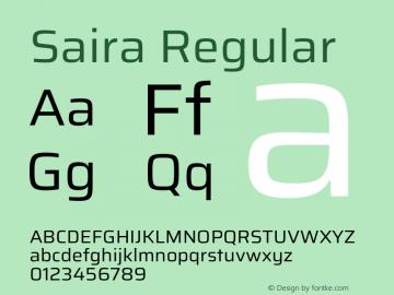Saira Regular Version 1.100图片样张