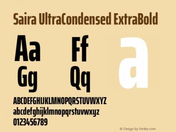 Saira UltraCondensed ExtraBold Version 1.100图片样张