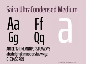 Saira UltraCondensed Medium Version 1.100图片样张