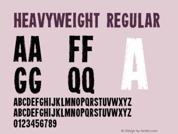 Heavyweight Regular Altsys Fontographer 4.0.4 4/9/02 Font Sample