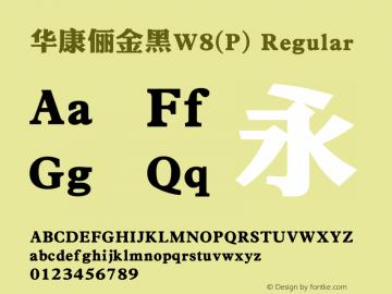 华康俪金黑W8(P) Regular Version 1.00图片样张