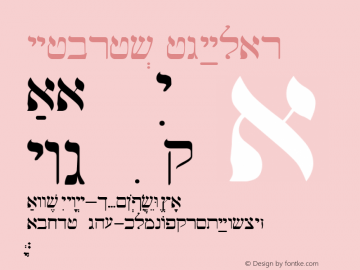 Hebrew Regular Altsys Fontographer 3.5  5/2/92 Font Sample