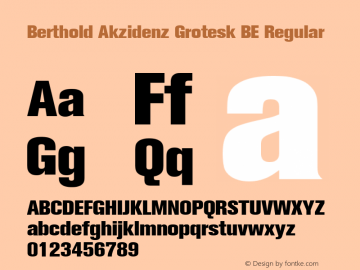 Berthold Akzidenz Grotesk BE Font,Berthold Akzidenz Grotesk BE Extra
