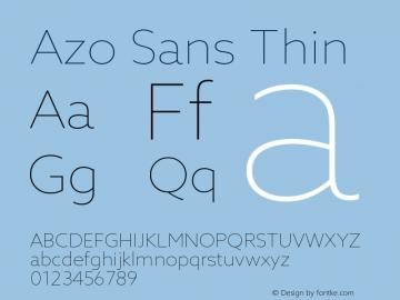 AzoSans-Thin Version 1.000图片样张