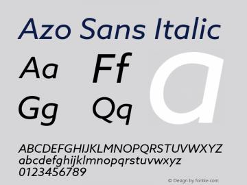 AzoSans-Italic Version 1.000图片样张