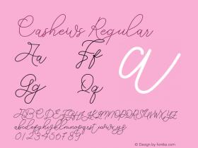 Cashews Version 1.001;Fontself Maker 3.5.1 Font Sample