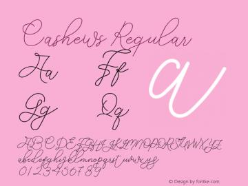 Cashews Version 1.001;Fontself Maker 3.5.1图片样张