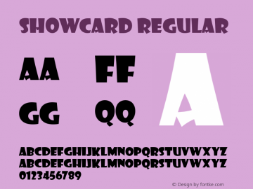 Showcard Regular Version 001.000图片样张