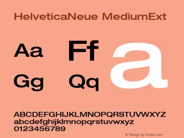 HelveticaNeue MediumExt Macromedia Fontographer 4.1.5 9/3/02 Font Sample