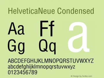 HelveticaNeue Condensed Macromedia Fontographer 4.1 11/5/98 Font Sample
