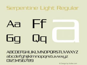 Serpentine Light Regular 001.000 Font Sample
