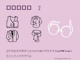 華康服飾篇 Regular 01 Feb, 1996: version 1.00 Font Sample