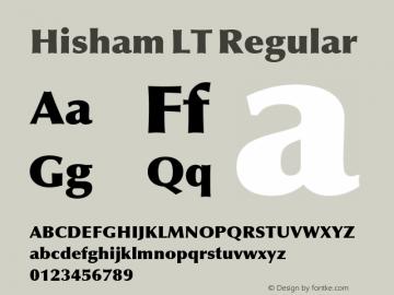 Hisham LT Regular Version 1.11 Build 110图片样张