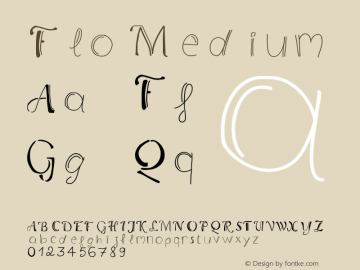 Flo Medium Version 001.000 Font Sample