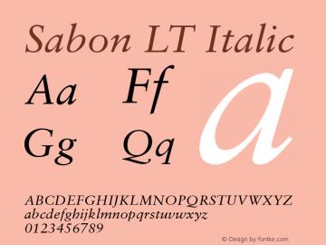 Sabon LT Italic Version 6.1; 2002图片样张