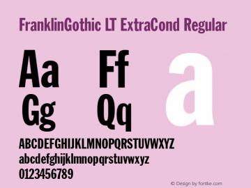 FranklinGothic LT ExtraCond Regular Version 6.1; 2002图片样张