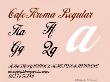 CafeAroma W05 Regular Version 4.10 Font Sample