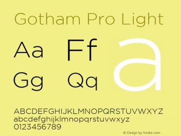 Gotham Pro Light Regular Version 1.001图片样张