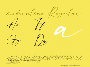 modernline Version 1.00;May 19, 2020;FontCreator 12.0.0.2567 64-bit图片样张