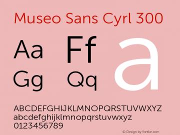MuseoSansCyrl-300 Version 1.023图片样张