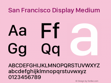 San Francisco Display Medium 10.0d46e1图片样张