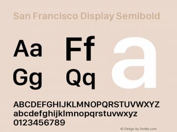San Francisco Display Semibold 10.0d46e1图片样张