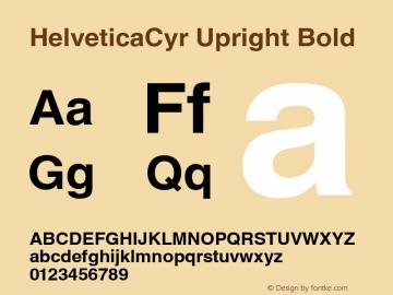 HelveticaCyr Upright Bold V.1.0 Font Sample