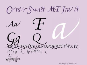 Centaur Swash MT Font Family|Centaur Swash MT-Serif Typeface