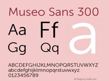Museo Sans 300 Version 1.000; Fonts for Free; vk.com/fontsforfree图片样张