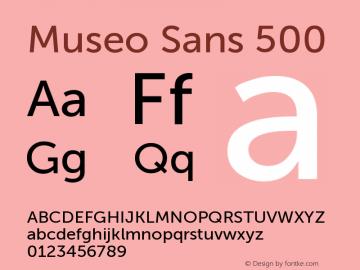 Museo Sans 500 Version 1.000; Fonts for Free; vk.com/fontsforfree图片样张