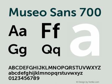 Museo Sans 700 Version 1.000; Fonts for Free; vk.com/fontsforfree图片样张