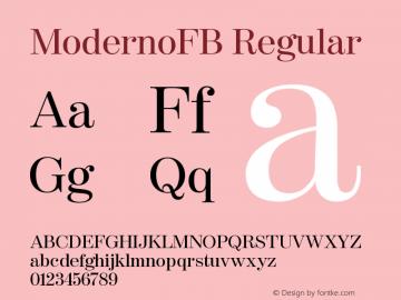 ModernoFB-Regular Version 1.000;PS 001.000;hotconv 1.0.38图片样张