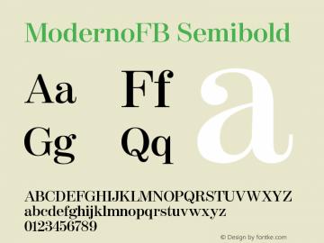 ModernoFB-Semibold Version 1.000;PS 001.000;hotconv 1.0.38图片样张