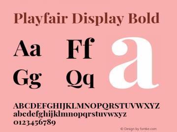 Playfair Display Bold Version 1.200; ttfautohint (v1.6)图片样张