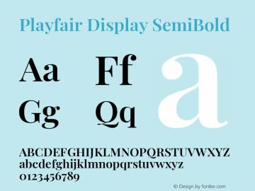 Playfair Display SemiBold Version 1.200; ttfautohint (v1.8.2)图片样张