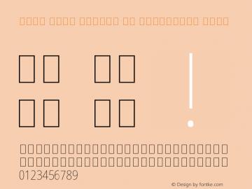 Noto Sans Arabic UI Condensed Thin Version 2.008 Font Sample