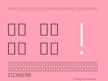 Noto Sans Arabic UI ExtraCondensed ExtraLight Version 2.008 Font Sample