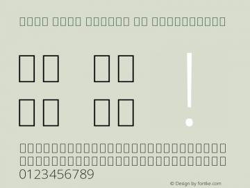 Noto Sans Arabic UI ExtraLight Version 2.008 Font Sample