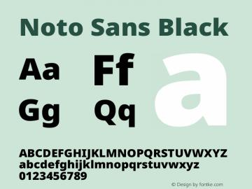 Noto Sans Black Version 2.004图片样张