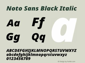 Noto Sans Black Italic Version 2.004图片样张