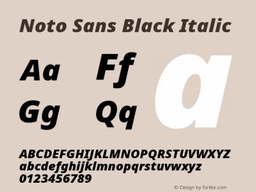 Noto Sans Black Italic Version 2.004; ttfautohint (v1.8.3) -l 8 -r 50 -G 200 -x 14 -D latn -f none -a qsq -X