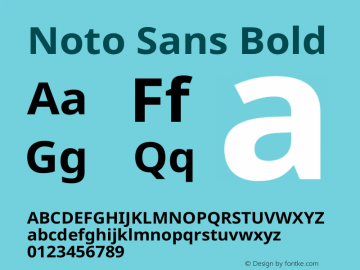 Noto Sans Bold Version 2.004图片样张