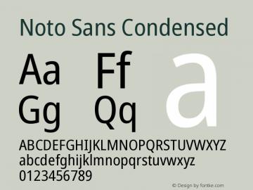 Noto Sans Condensed Version 2.004图片样张