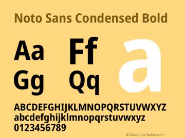 Noto Sans Condensed Bold Version 2.004图片样张