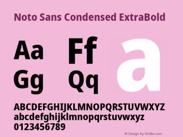 Noto Sans Condensed ExtraBold Version 2.004; ttfautohint (v1.8.3) -l 8 -r 50 -G 200 -x 14 -D latn -f none -a qsq -X
