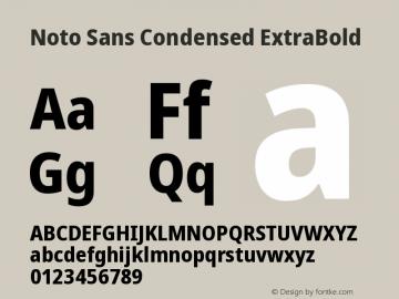 Noto Sans Condensed ExtraBold Version 2.004图片样张